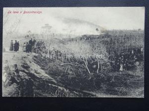 Italy Vesuvius Eruzione del Vesuvio LE LEVA AT BOSCOTRECASE Naples c1906 RARE PC