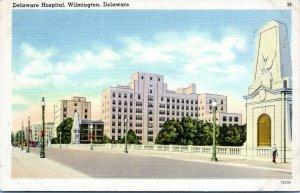 1930s Wilmington Delaware Hospital Linen Postcard DP