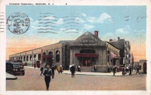 Hudson Terminal, Hudson Tubes, Newark, N. J., Early  Postcard, Used in 1923