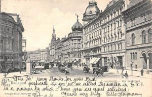 Hungary Budapest, A nagykorut - Der Boulevard, Tramway, Carriages 1902