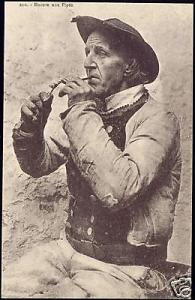 France, Old Pipe Smoking Man, Costumes (1920s)