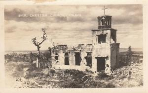 RP; OKINAWA, Japan, 1940s; Shuri Christian Church, Damaged during WW II