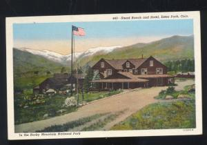 ESTES PARK COLORADO STEAD RANCH HOTEL VINTAGE ADVERTISING POSTCARD COLO.