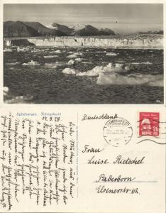 norway norge, SPITSBERGEN SVALBARD, Kings Bay (1928) RPPC Postcard