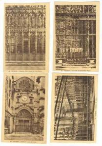 4 postcards, Toledo, Spain, Catedral, 1910-20s