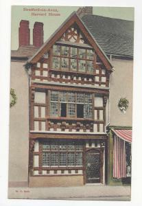 UK England Stratford on Avon Harvard House Vtg Peacock Stylochrom Postcard c1910