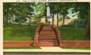 VA - Charlottesville, Monticello, Tomb of Thomas Jefferson