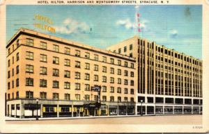 New York Syracuse Hotel Hilton 1951