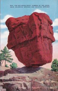 Colorado Springs The Balanced Rock Garden Of the Gods 1941