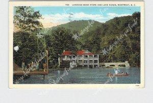 PPC POSTCARD NC NORTH CAROLINA MONTREAT LAKESIDE BOOK STORE LAKE SUSAN