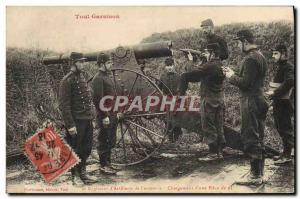 Postcard Old Army 6th regiment of Toul & # 39artillerie fortress of Loading &...