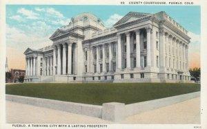 PUEBLO , Colorado, 1910-20s ; County Courthouse