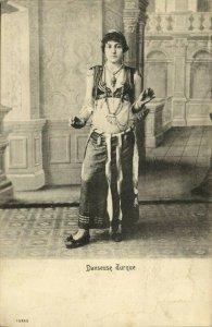 turkey, Danseuse Turque, Turkish Girl Dancer (1899) Postcard