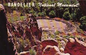 New Mexico Frijoles Canyon Ceremonial Kiva Bandelier National Monument