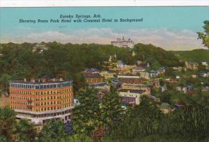 Arkansas Eureka Springs Basin Park Hotel With Crescent Hotel In Background 19...
