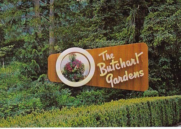 Canada Victoria The Butchart Gardens Entrance Sign