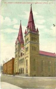 St John's Church & Orphan's Asylum , Utica , New York, PU-1909