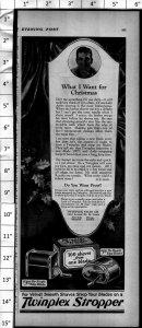 1924 Twinplex Stropper Razor Shaving Strop Sharpening Vintage Print Ad 4001