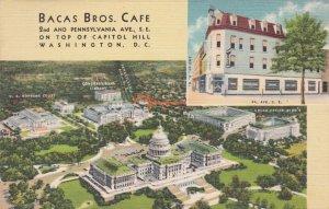 Washington D C Bacay Brothers Cafe Pennsylvania Avenue Curteich sk1821