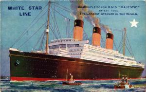CPA R.M.S. MAJESTIC Steamer White Star Line SHIPS (704026)