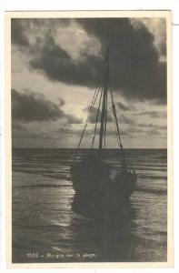 RP: Barque sur la Plage , Belgium , PU-1933