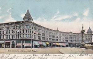 Indiana Indianapolis English Hotel 1910