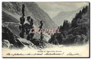 Old Postcard Oisans Gorges of water Goose