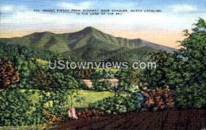 Mount Pisgah from Highway Candler NC 1946