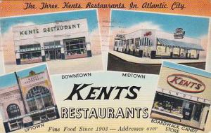 New Jersey Atlantic City P S Visit Kents Restaurants For Fine Food And Free P...