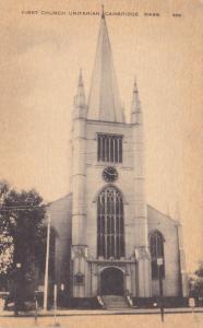 CAMBRIDGE, Massachusetts, 1900-10s; First Church Unitarian