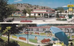 Split-View, Pool & Exterior, Spanish Inn Motel, Kelowna, British Columbia, Ca...