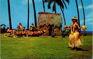 Kodak Tahitian Dancers Hula Show Postcard unused (27173)