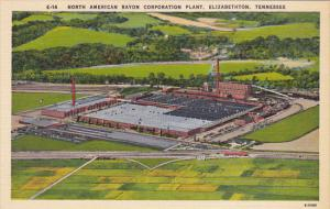 Tennessee Elizabethton Aerial View North American Rayon Corporation