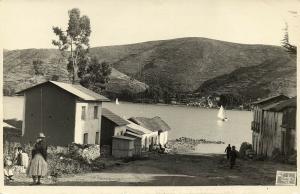 bolivia, ANDES, Lake Titicaca (1950s) Cordero RPPC