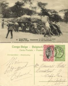belgian congo, ELISABETHVILLE, First Means of Transport (1920s) Postcard (22)