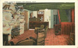 Glen Ivy Mineral  Hot Springs California Lobby 1920s Riverside Montgomery 10401
