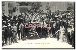 Old Postcard Tarascon Procession Tarasque