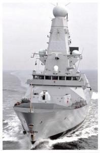 Postcard Royal Navy Type 45 Destroyer HMS Daring Acceptance Trials, Scotland L69