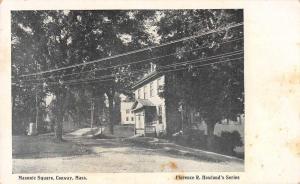Conway Massachusetts Masonic Square Street Scene Antique Postcard J76280