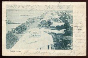 h416 - NIGERIA Lagos Postcard 1901 Marina
