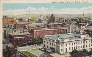 Aerial  View of Business Section of York Pennsylvania
