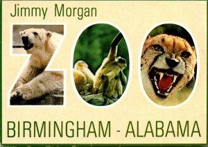 Alabama Birmingahm Greetings From Jimmy Morgan Zoo Showing Polar Bear Monkeys...