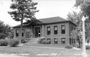 Auburn Nebraska Public Library Real Photo Antique Postcard K18081