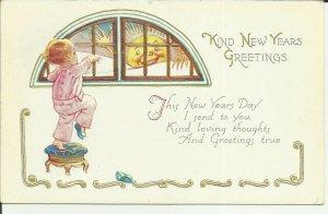 Kind New Years Greetings. EMBOSSED