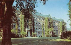 Orono~University of Maine~Oak Hall~Mens Dormitory~1950s Postcard