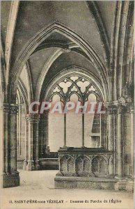 Postcard Old Holy Father in Vezelay Descous the Porch of the Church