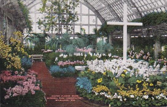 Wisconsin Milwaukee Easter Flower Show Mitchell Park Conservatory 1942