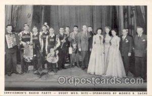 Servicemen's Radio Party- Sponsored By Morris B. Sachs Unused