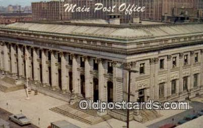 Main Post Office Jersey City USA Postoffice Old Vintage Post Card Postcards  ...