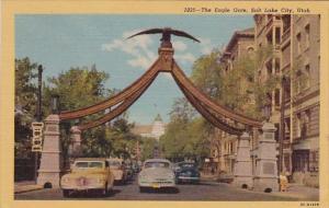 Utah Salt Lake City The Eagle Gate 1955